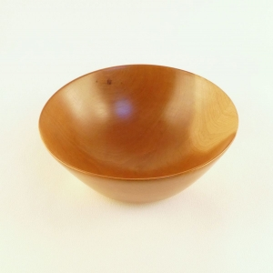 Handmade cherry wood salad bowl. Turned by Cynthia D. Haney good for any use including yarn.