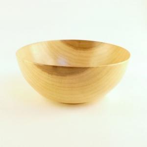 Delicate thin tulip poplar wood salad bowl hand turned by Cynthia D. Haney. Handmade in Virginia USA