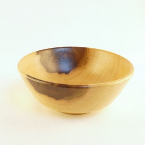 Tulip Poplar decorative bowl hand turned from wood by Cynthia D. Haney Great as a catch all handmade in USA