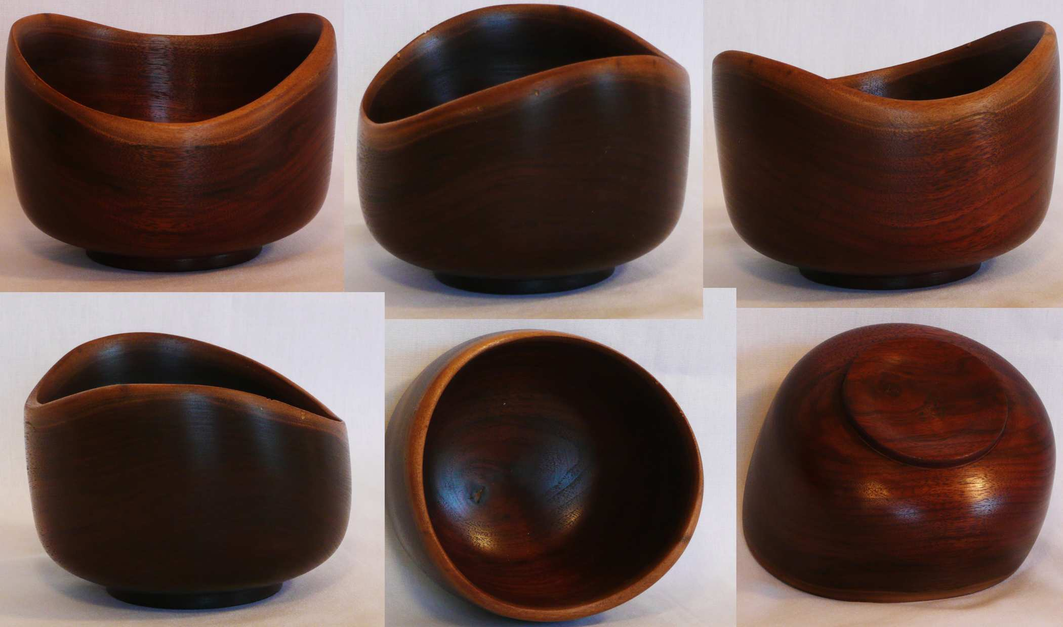 Walnut hand turned bowl with natural edge by Cynthia D. Haney.