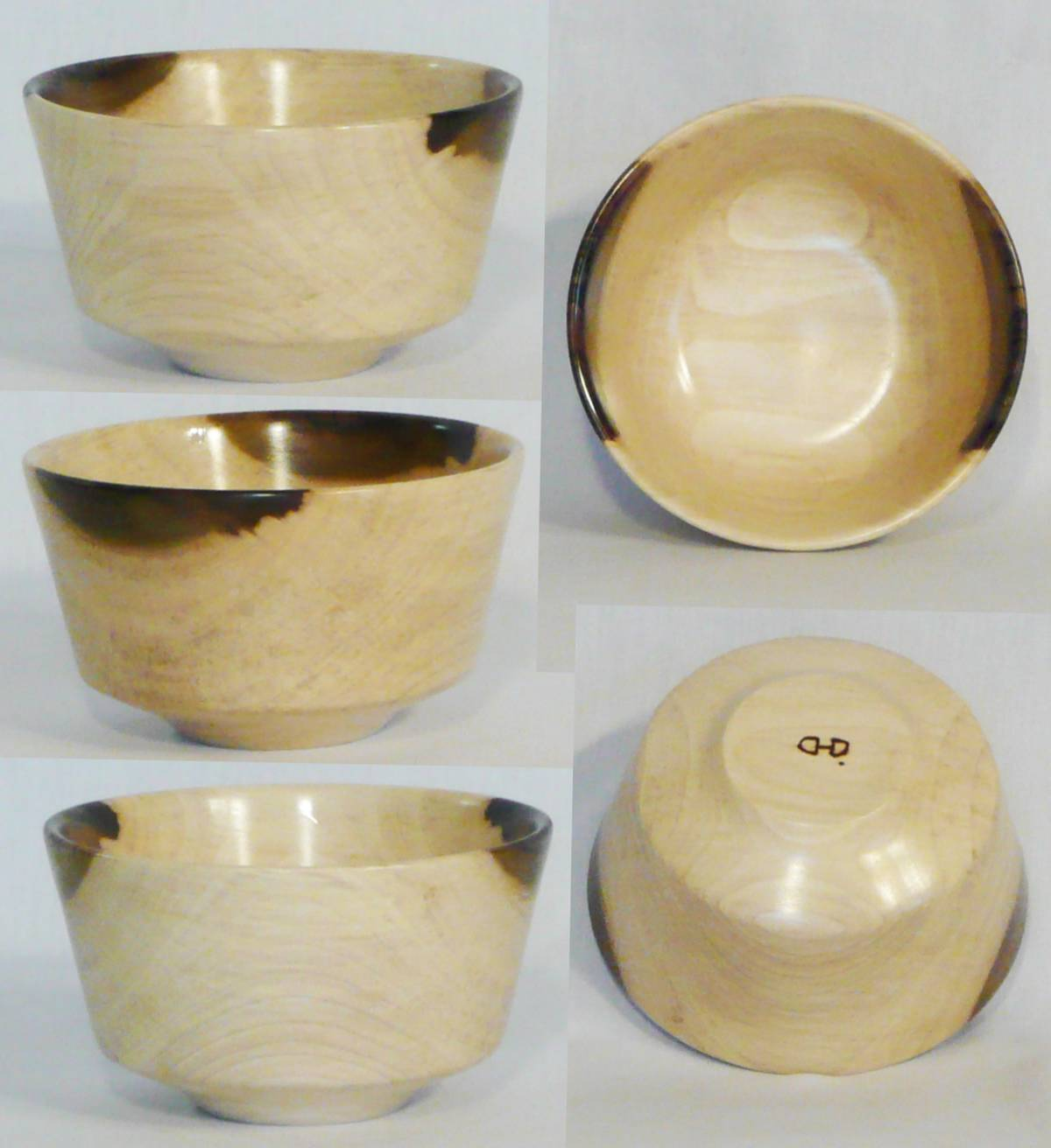 Hand turned bowl from Tulip Poplar by Cynthia D. Haney