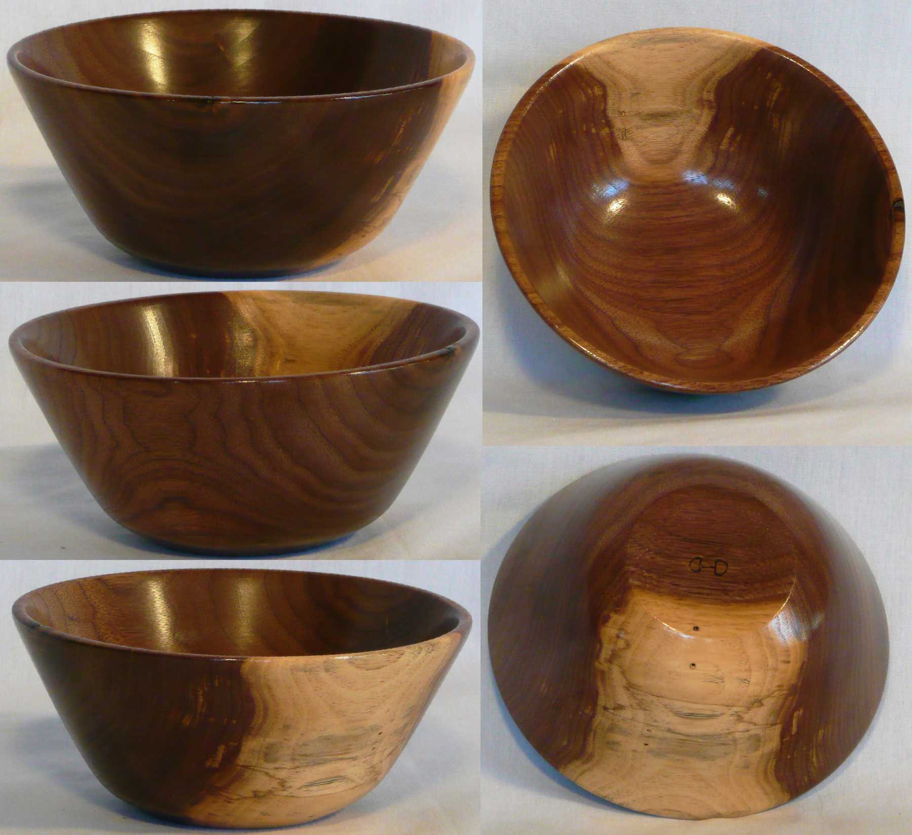 Walnut bowl hand turned by Cynthia D. Haney.